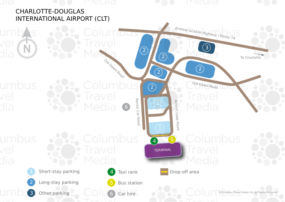 Airports In Nc Map.Charlotte Douglas International Airport World Travel Guide