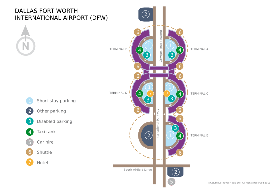 dfw airport taxi diagram dallas-fort worth international airport | world travel guide lincoln airport diagram
