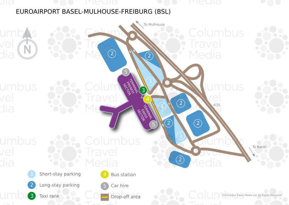 EuroAirportBSLpng - Basel mulhouse freiburg map