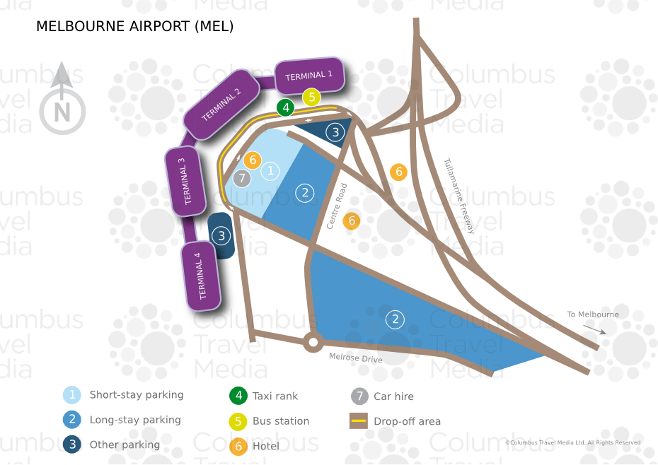Melbourne Airport World Travel Guide - Melbourne cruise ship terminal map