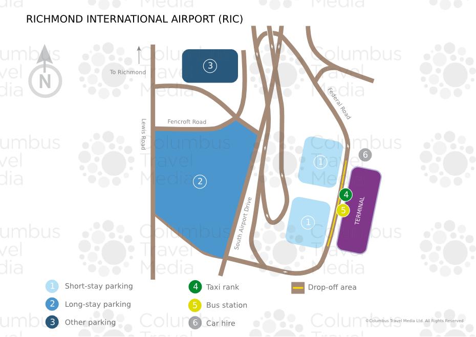 Richmond Va Airport Map Richmond International Airport | World Travel Guide