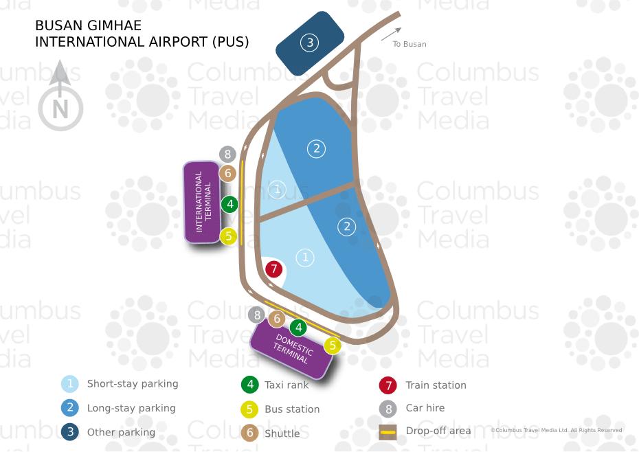 busan airport map