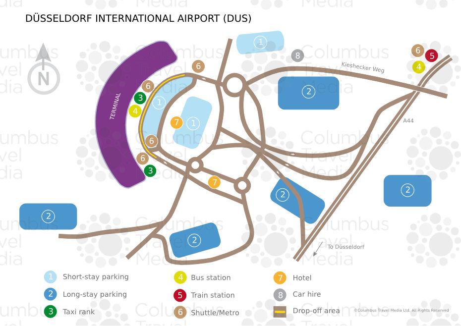 dusseldorf airport map: