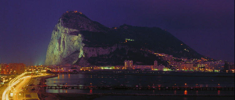 Nightscape of Gibraltar