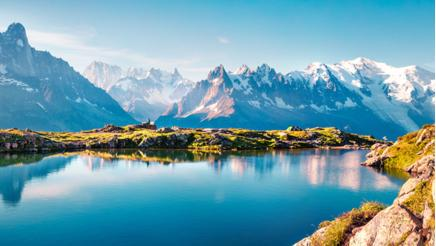Beautiful outdoor scene in Vallon de Bérard Nature Reserve, Graian Alps, France