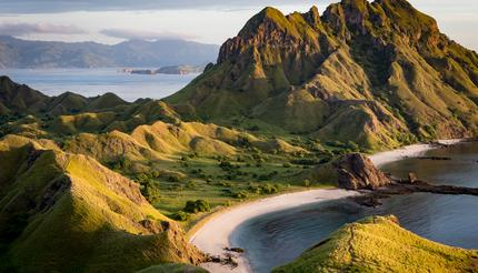 View from the top of Padar island in Komodo islands, Flores, Indonesia
