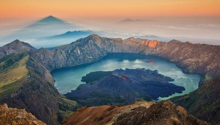 Sunrise from Mount Rinjani, Lombok, Indonesia