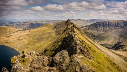 View from the top of Helvellyn, Cumbria, England