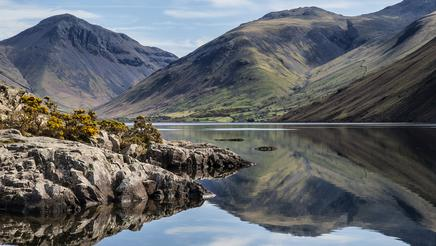 Stunning landscape of Wastwater and Lake District Peaks, Cumbria, England