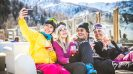 Skiing on a budget - Group of friends on a ski holiday