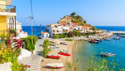 Kokkari fishing village, Samos, Greece