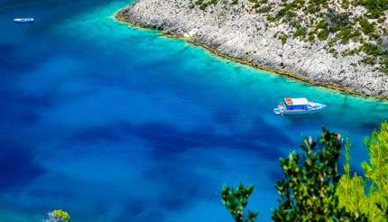 The blue lagoon of Porto Vromi, Zante, Greece