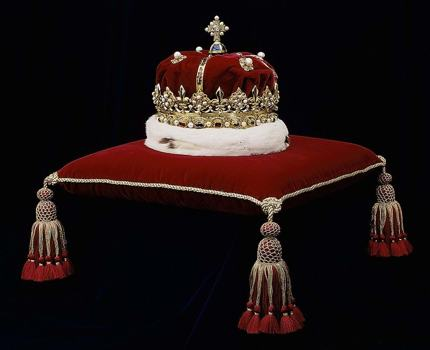 Honours of Scotland, the oldest Crown jewels in Britain, is on display in the Crown Room, Edinburgh Castle