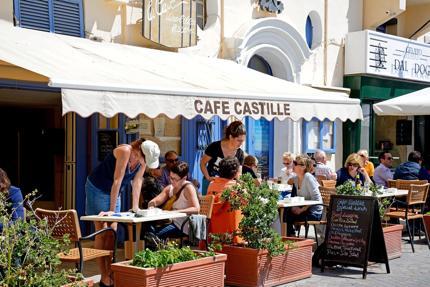 Cafe in Valletta, Malta
