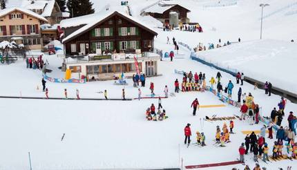 Snowgarden, Wengen ski resort, Switzerland