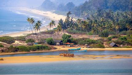 Tropical beach in Goa