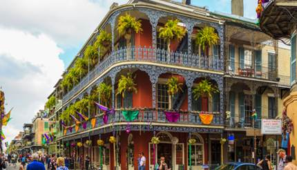 Historical buildings in French quarter