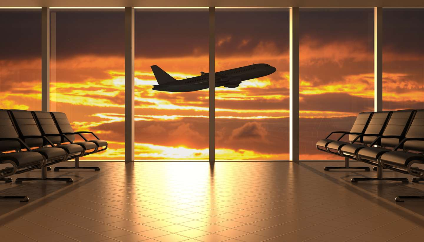 Bitesized guide: Overcome your fear of flying - Plane taking off in sunset - How to get an upgrade for a flight