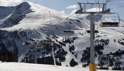 Ski lift at Banff's ski resort, Canada