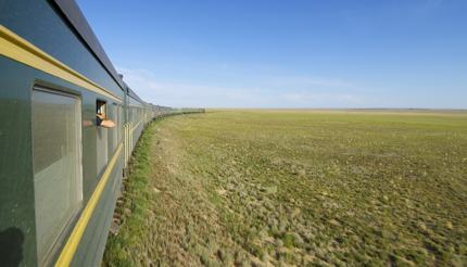 Views of Mongolian Steppe from the Trans-Mongolian Railway
