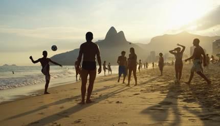 Locals on Ipanema beach, Rio de Janeiro, Brazil