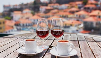 Poncha wine and espresso coffee