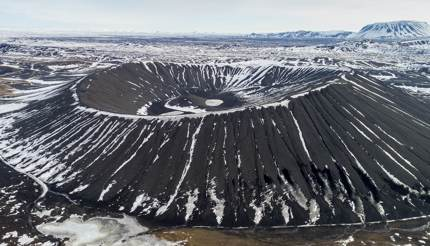 Hverfjall volcano crater, Iceland