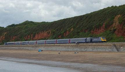 The coast-hugging Dawlish line reopened this month