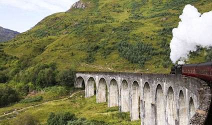 The Fort William to Mallaig train, as seen in Harry Potter