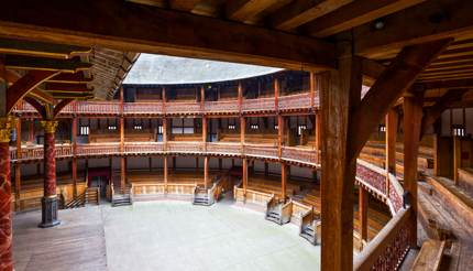Inside of the Globe theatre