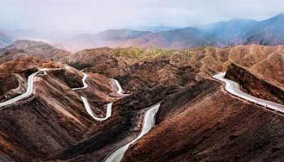 Road in Atlas mountains, Morocco
