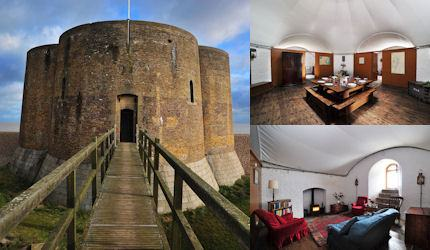 Exterior and interior of Martello Tower
