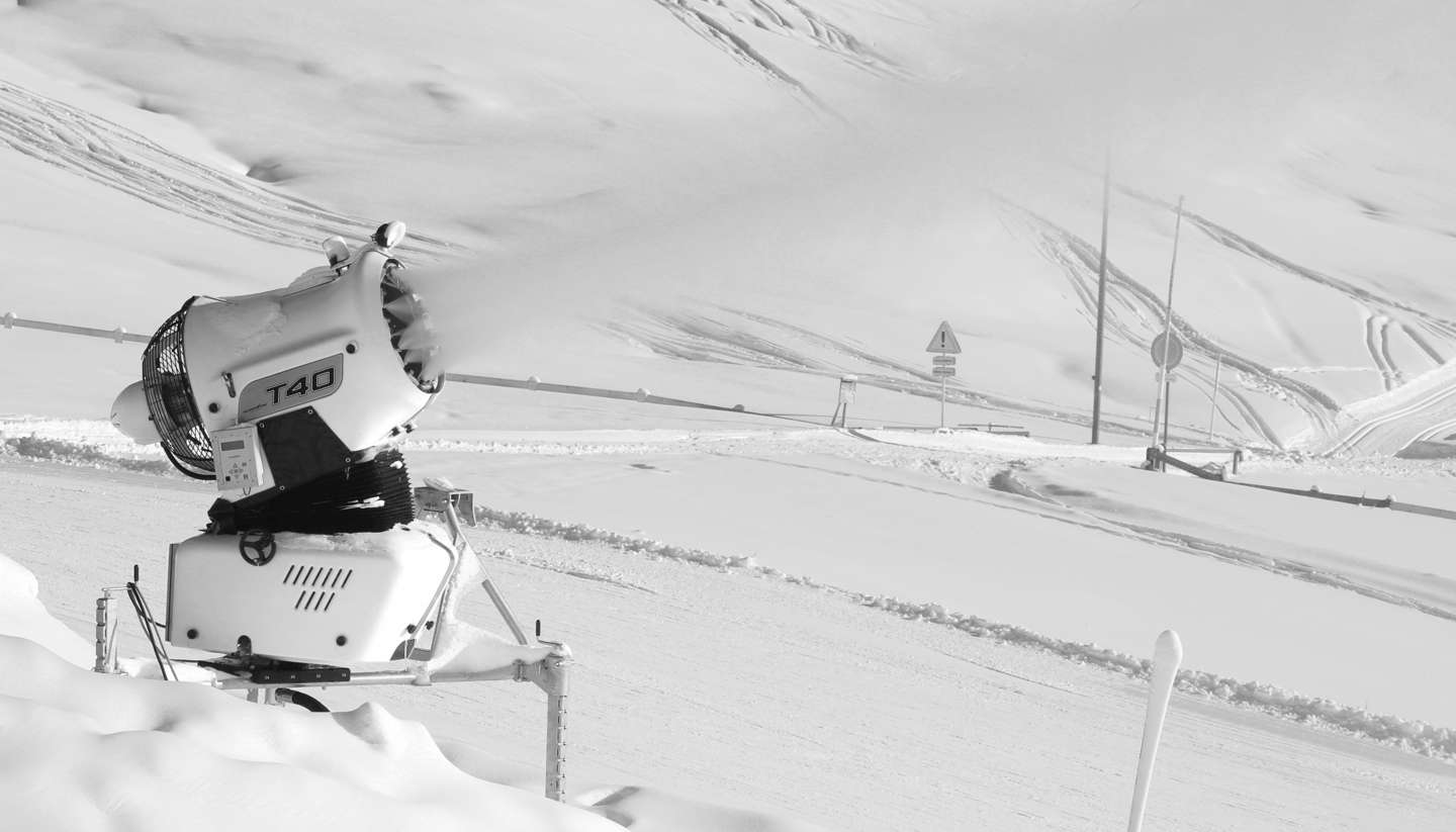 Over and alps can artificial snow save skiing in europe