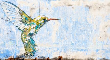 'Hummingbird' by Ernest Zacharevic in Ipoh