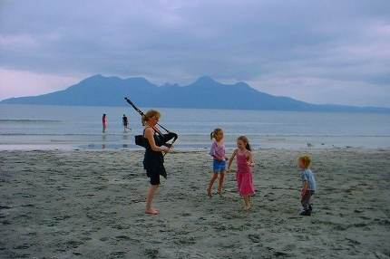 Residents on the Isle of Eigg celebrate life's simple pleasures