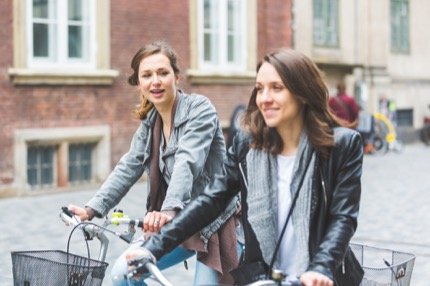 Two-wheeled commuters in Copenhagen