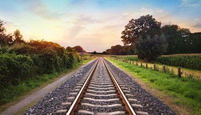 night train - train tracks