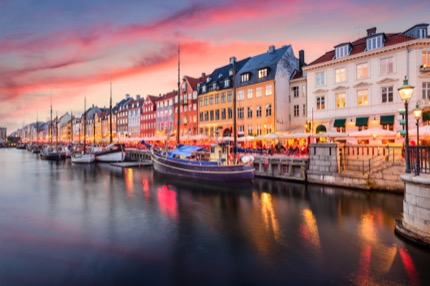 Nyhavn, the picture-perfect 7th-century waterfront in Copenhagen, Denmark