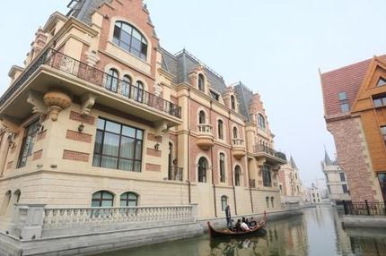 Enjoy a peaceful gondola ride down the Dalian canal