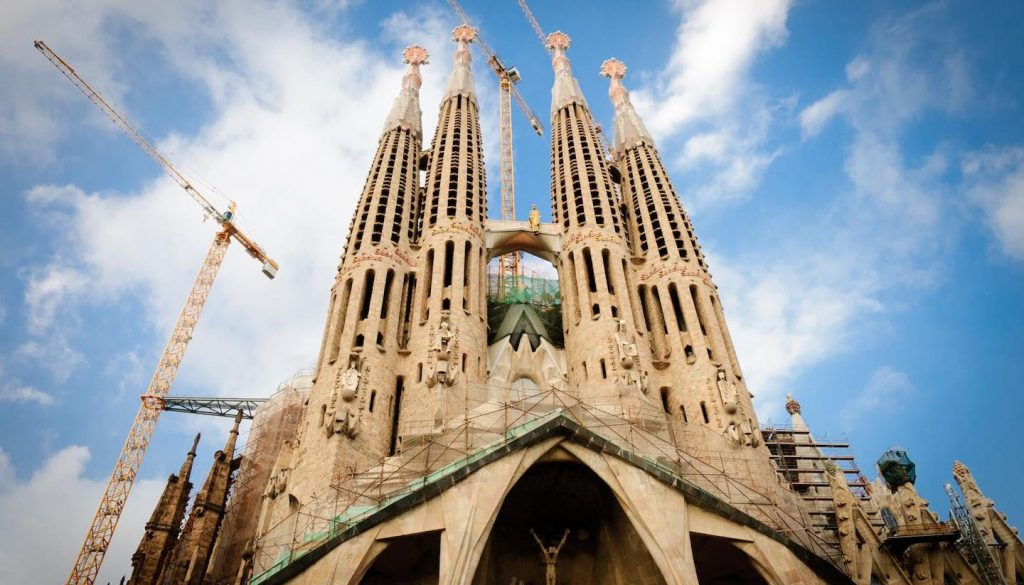 Spain - Cathedral Sagrada Familia, Barcelona, Spain