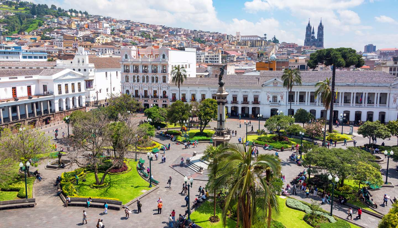Quito - Plaza Grande in Quito, Ecuador