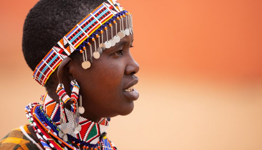 Kenya - A Masai woman in Kenya