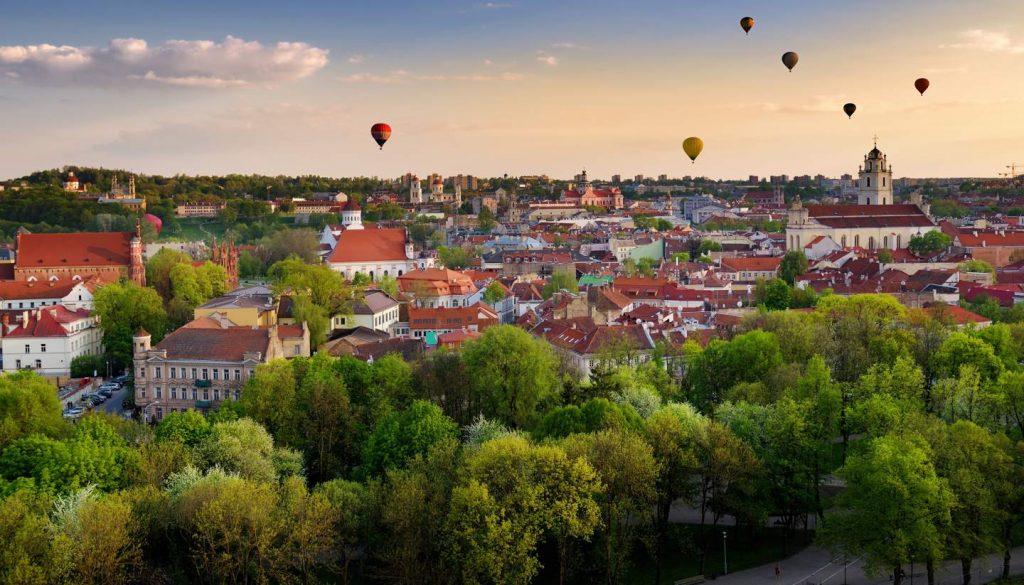 Vilnius - Balloons over Vilnius, Lithuania