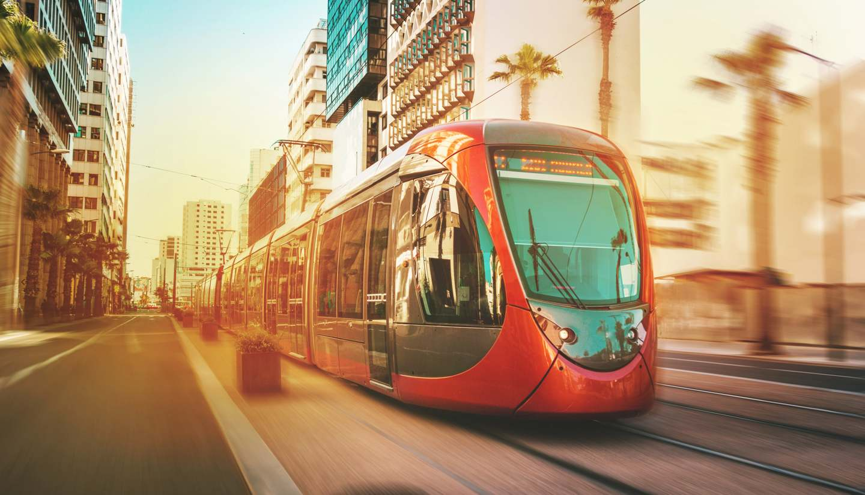 Casablanca - Tram in Casablanca, Morocco