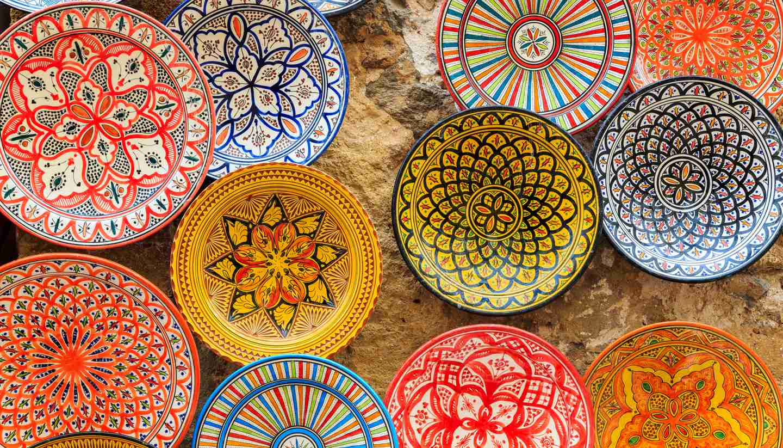 Morocco - Colourful Moroccan dishes