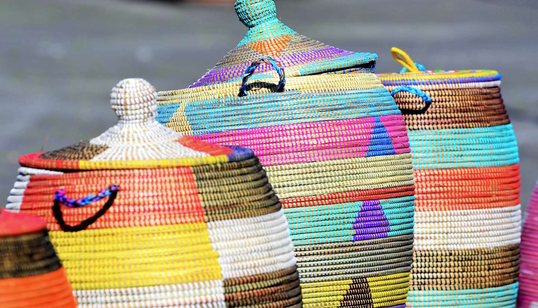 Republic of Congo - Seagrass baskets in Republic of Congo