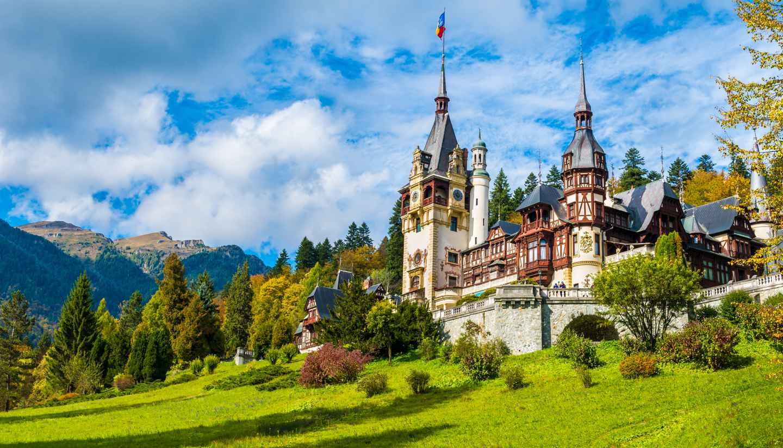 Romania - Peles Castle in Transylvania, Romania