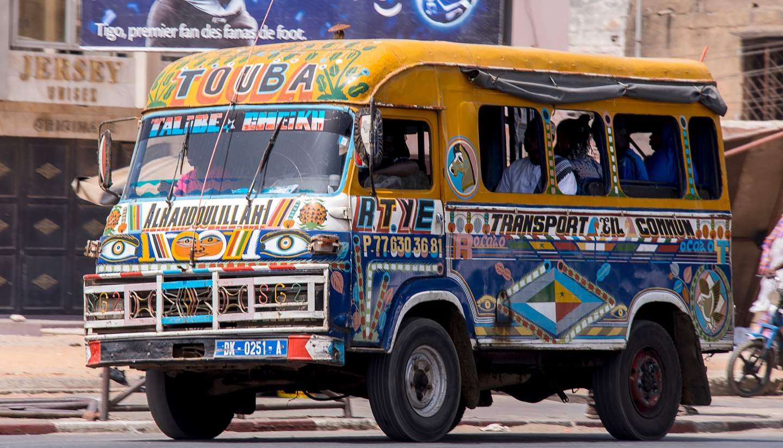 Senegal - A minibus in Senegal