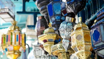 Traditional lamps in the medina of Tunis, Tunisia