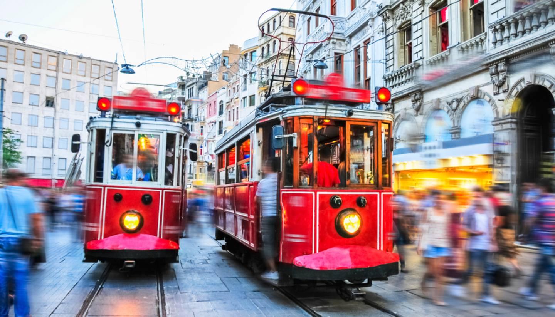 Istanbul - Trams in Istanbul, Turkey